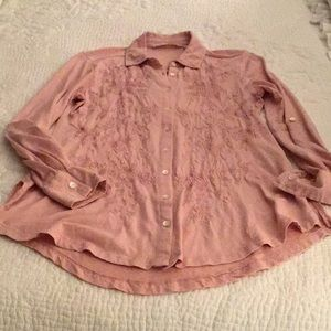 Rose Tone on Tone Blouse